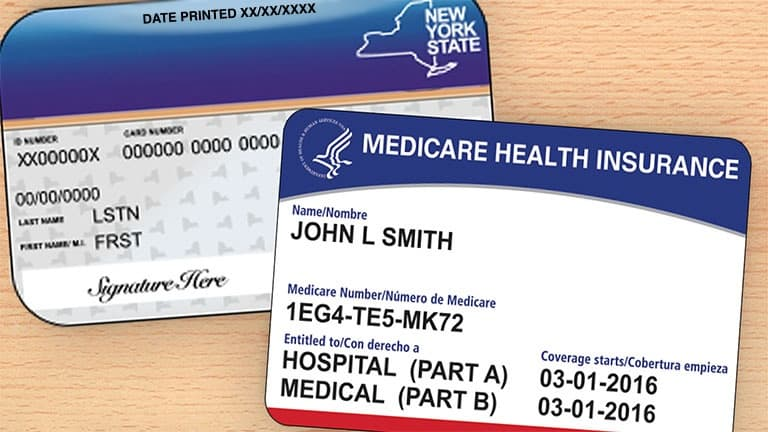 Medicaid & Medicare card
